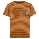 Caramekleurige t-shirt met strepen - spearfish