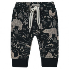 Donkerblauw broekje met winterprint - Pants regular aiken aop dark sapphire