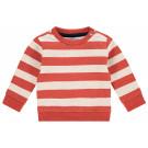 Koraal rood gestreepte sweater - Paprika sweater archdale