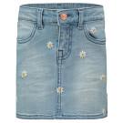 Lichtblauw jeansrokje met madeliefjes - Medium blue denim skirt mini cutler