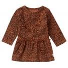 Roestkleurig kleedje met tijgerprint - riverview rust