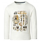 Beige t-shirt met rugzakprint - Regular t-shirt delareyviille oatmeal