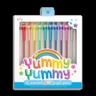 Set van 12 glitter gelpennen met geur - Yummy Yummy