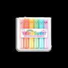 Set van 6 mini markeerstiften met geur - Pastel