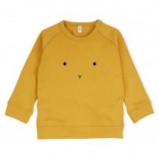 Mosterdgele sweater met konijnensnoetje - bunny