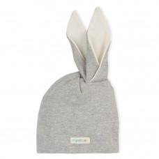 Schattig grijs melée konijnenmutsje