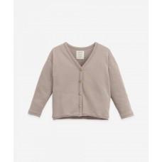 Grijsbruine cardigan - Jersey cardigan bicho (stapelkorting)
