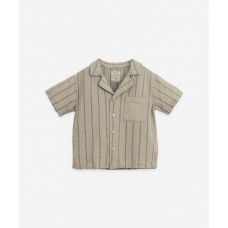 Kaki gestreept hemdje - Striped woven shirt joao