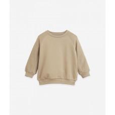 Lichte kakikleurige sweater - Fleece sweater joao