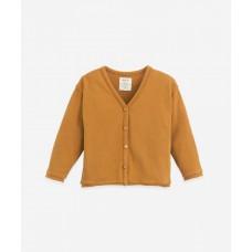 Karamelbruine cardigan - Jersey cardigan hazel