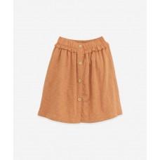 Bruinroze gele rok - Mixed skirt raquel