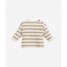 Beige gestreepte sweater - Striped jersey sweater pinha