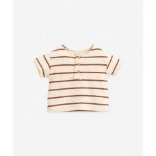 Beige gestreepte t-shirt - Striped jersey t-shirt farm