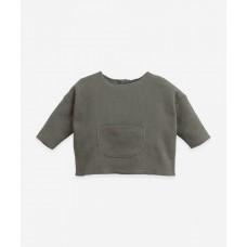 Grijsgroene sweatshirt - Interlock sweater cocoon
