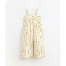 Beige gestreepte jumpsuit - Striped jumpsuit dandelion