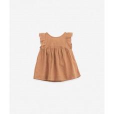 Bruinroos kleedje - Ajour dress raquel
