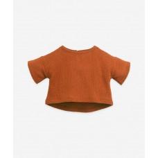 Terracottakleurige sweatshirt - Jersey sweater anise