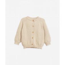 Beige gebreide cardigan - Knitted cardigan dandelion