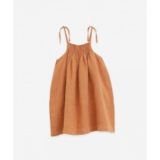 Bruinroos linnen kleedje - Linen dress raquel