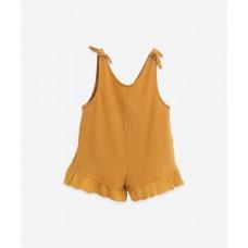 Karamelbruine zomerse onesie - Mixed jumpsuit hazel