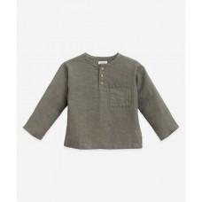 Grijs linnen hemdje - Linen shirt cocoon