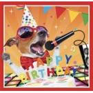 Muziekkaart - Happy birthday (Hond)
