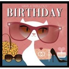 Muziekkaart - Have a fabulous birthday