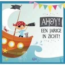 Muziekkaart - Piraat Ahoy een jarige in zicht