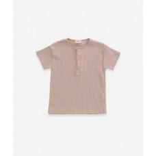 Beige rib t-shirt - Flamé rib t-shirt jute
