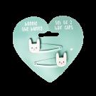 Set van 2 haarspeldjes met konijn - Bonnie the bunny hair clips