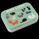 Pleisters in metalen doosje katten - Nine lives plasters in a tin