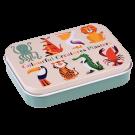 Pleisters in metalen doosje kleurrijke dieren - Colourful creatures plasters in a tin