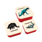 Assortiment snackdoosjes dino's - Set of 3 snack boxes prehistoric land