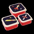 Assortiment snackdoosjes ruimte - Set of 3 snack boxes space age