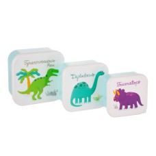 Assortiment snackdoosjes dino - Set of 3 roarsome dinosaurs lunch boxes