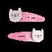 Set van 2 haarspeldjes met kat - Cookie the cat hair clips