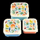 Assortiment snackdoosjes wilde dieren - Set of 3 wild wonders snack boxes