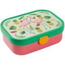 Lunchbox met bento bakje - flamingo