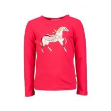 Frambooskleurige t-shirt met paard