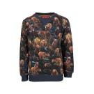 Sweater met bruine beren - coolbear navy
