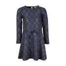 Donkerblauw kleed met goud motief - dress ziggy dark blue