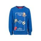 Helblauwe sweater met interactief voetbal - kobalt okay