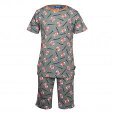Kaki pyjama met tijgers - Nighty light khaki