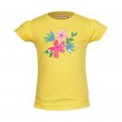 Gele t-shirt met bloemen - Camille yellow