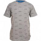 Grijze t-shirt met auto's - Car grey melange  (stapelkorting)