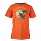 Oranje t-shirt met dino - Croco orange