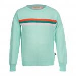 Mintgroene sweater met 3 strepen - Eline mint