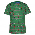 Groene t-shirt met tafelvoetballers - Foosball green melange