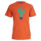 Oranje t-shirt met cactus - sting orange