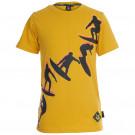 Mosterdgele t-shirt met surfers- surfup oker